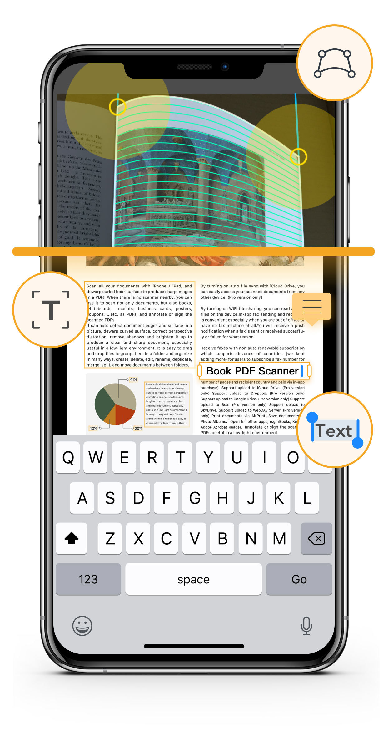 PDF iOS ocr scanner, text grabber